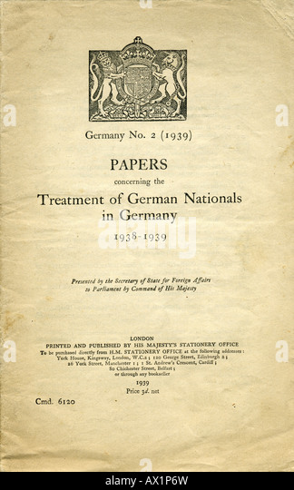 Essay on the white paper of 1939