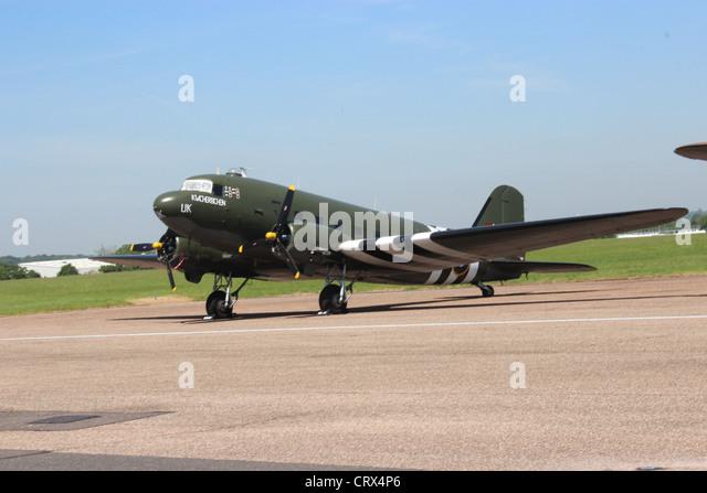 RAF  Douglas C-47 Dakota BBMF royal air force WWII war bomber - Stock Image