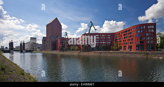 NRW Archives, Duisburg Inner Habour, Germany. - Stock Image
