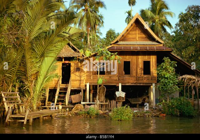 Thai stilt house stock photos thai stilt house stock for Thailand houses pictures