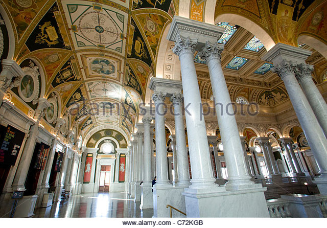 Library of Congress Building, Washington, D.C. - Stock Image