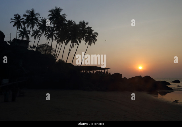 Palolem beach in Goa, India, South India  Photo: pixstory / Alamy - Stock-Bilder