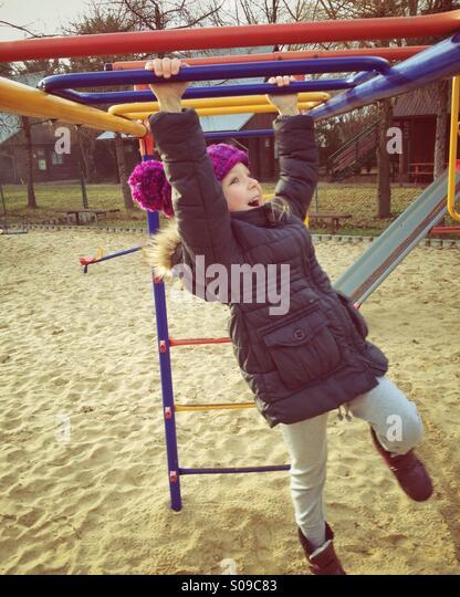 Child at playground - Stock Image