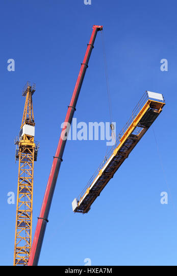 Tower Crane Self Assembly : Self erecting stock photos images