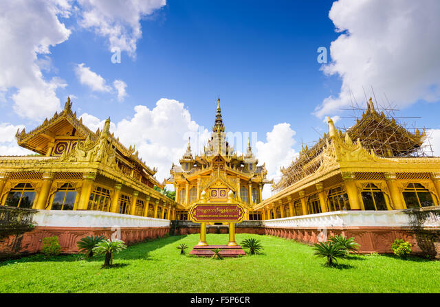 Bago, Myanmar at Kambawzathardi Golden Palace. - Stock-Bilder