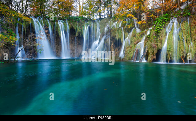Plitvice lakes national park, Croatia - Stock Image