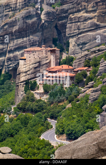 Monasteries Of Meteora Greece Stock Photos & Monasteries ...