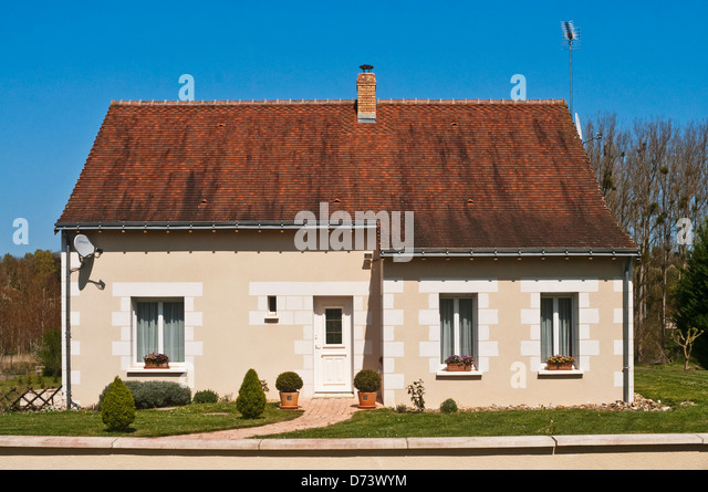 New French bungalow - Indre-et-Loire, France. - Stock Image
