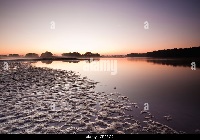 A pond (etang ) in the natural park of La Brenne (Pays aux Mille Etangs), Indre, Loire Valley, Centre, France - Stock Image