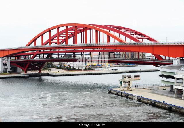 Bridge at the Port of Kobe, Japan - Stock Image