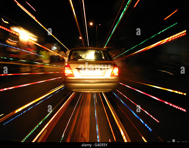 Speeding Car - Stock Image