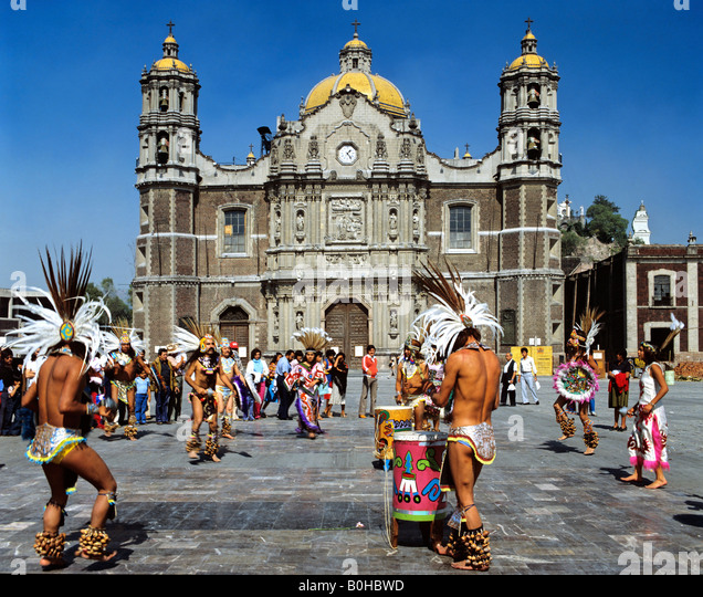 Our Lady of Guadalupe Basilica, cathedral, Indios, Mexico City, Mexico, Central America - Stock Image
