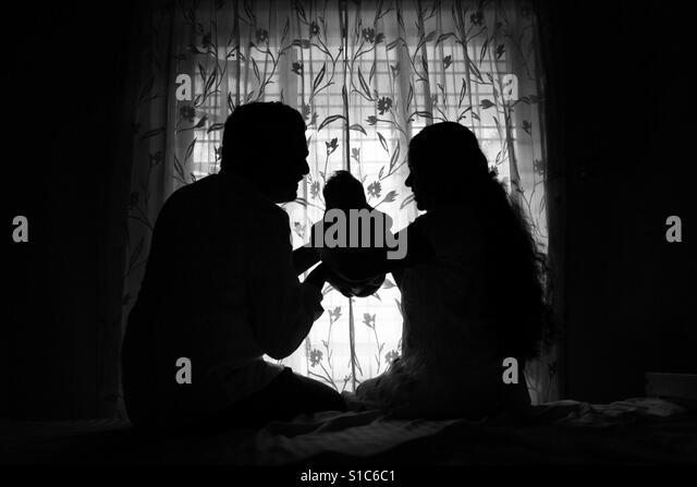 Family Silhouette - Stock-Bilder