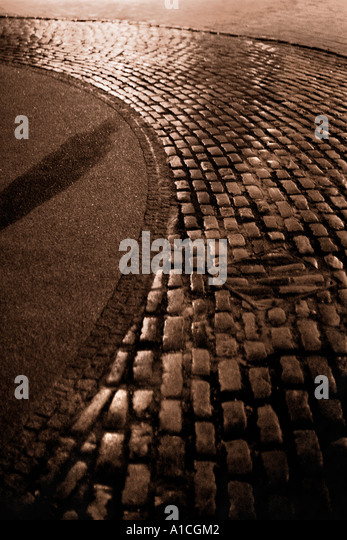 Stone Pavement In Paris : Lithographic stock photos images alamy