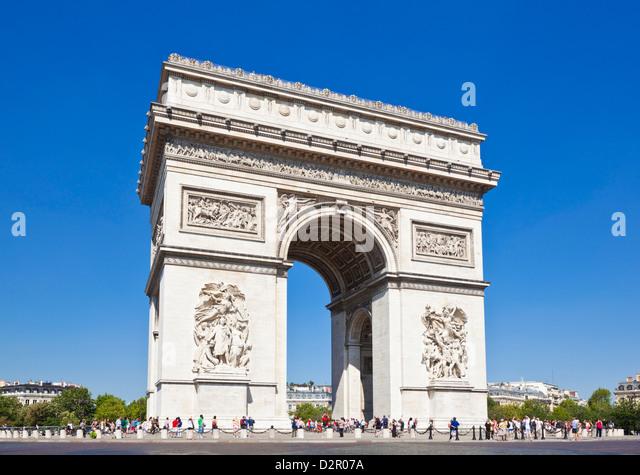 Arc de Triomphe, Paris, France, Europe - Stock Image
