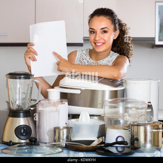 Happy Girl Kitchen: Woman Steaming Food Stock Photos & Woman Steaming Food
