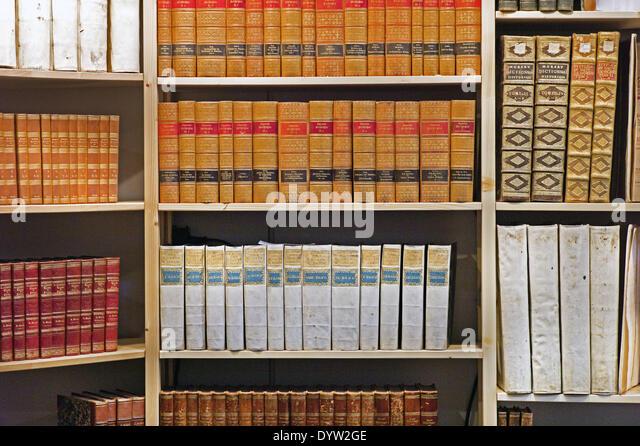 Antiquarian bookshop - Stock-Bilder