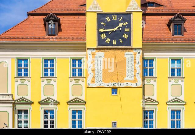 HISTORIC CLOCK AND SUNDIAL - Stock-Bilder