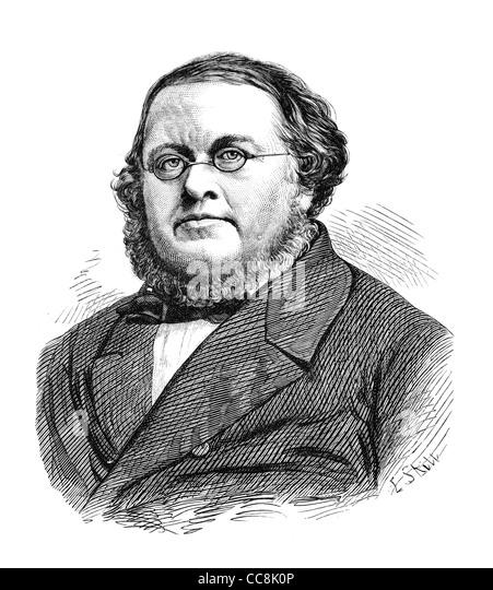 Peter Christen Asbjørnsen (1812-1885) was a Norwegian writer and scholar. Old engraving from a magazine printed - Stock-Bilder