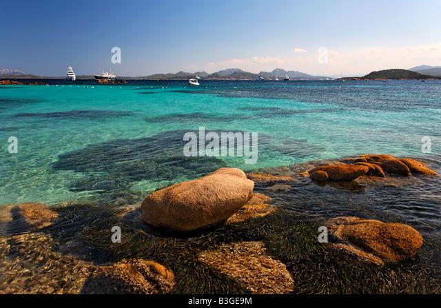 Italy Sardinia Costa Smeralda Cala Capriccioli - Stock Image