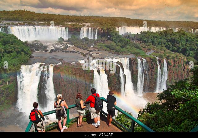 Brazil Iguazu Falls Salto Tres Mosqueteros viewpoint - Stock Image