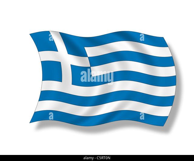 Illustration, Flag of Greece - Stock Image