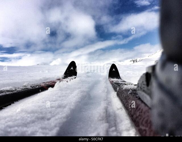 Cross country skiing. - Stock Image