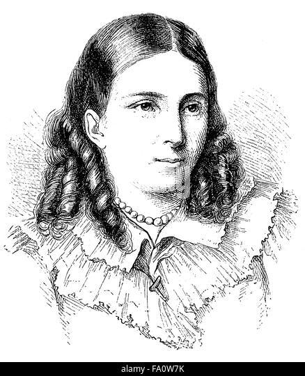 Bettina von Arnim, 1785-1859, German writer of the German Romanticism - Stock-Bilder