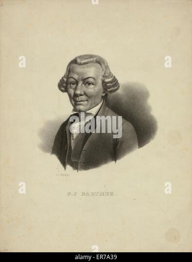 Paul Joseph Barthez. Head-and-shoulders portrait of scientist PJ Barthez, whose locomotion studies served as a precursor - Stock Image