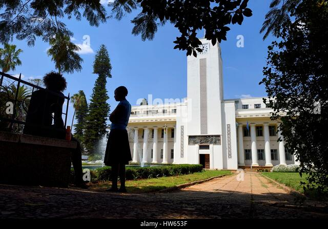Zimbabwe, Bulawayo, the City Hall - Stock Image