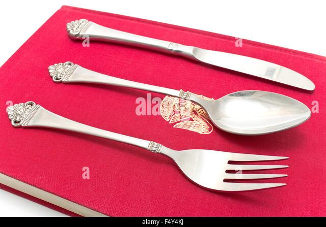 Fork Knife Spoon Set Cutlery Stock Photos Fork Knife
