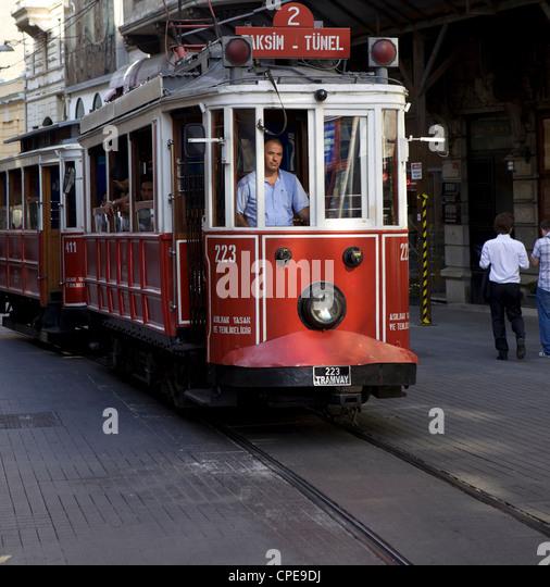 Tram driver, Istanbul, Istanbul, Turkey, Europe, Eurasia - Stock Image