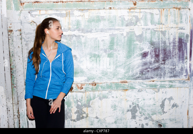 Woman wearing sport clothes - Stock Image