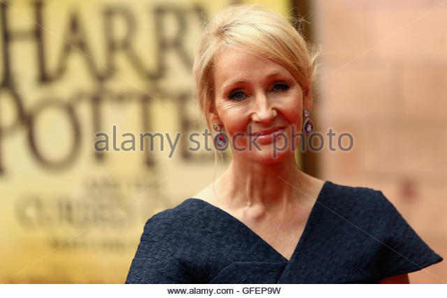 Author J.K. Rowling poses for photographers at a gala performance of the play Harry Potter and the Cursed Child - Stock-Bilder