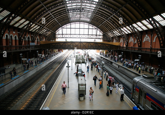 Estacao da Luz train station, Sao Paulo, Brazil, South America - Stock Image