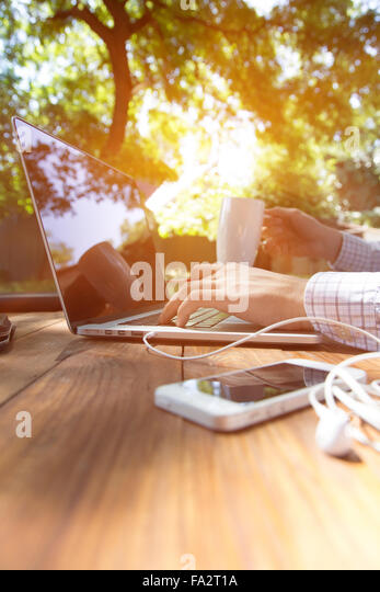 Out of office work concept vertical - Stock-Bilder