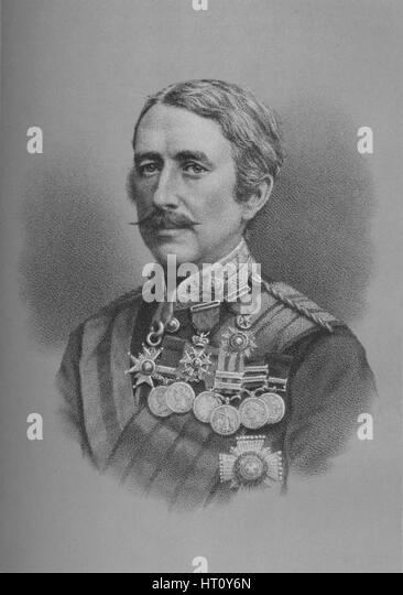 Lieutenant-General Sir Garnet Joseph Wolseley, British soldier, 1882 (1883). Artist: Unknown. - Stock Image