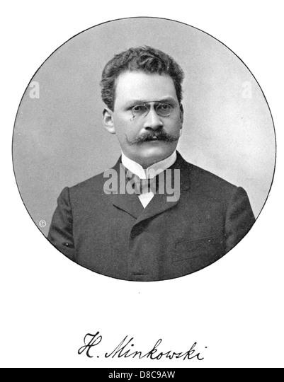 HERMANN MINKOWSKI (1864-1909) German mathematician who created the geometry of numbers - Stock Image