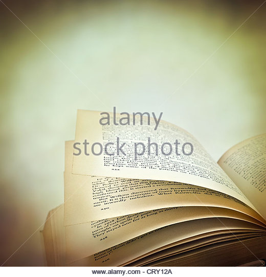 reading book - Stock Image