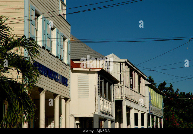 St Kitts West Indies Caribbean Basseterre French architecture - Stock Image