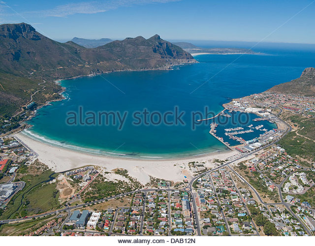 Aerial view of Hout Bay, Cape Town, South Africa - Stock Image