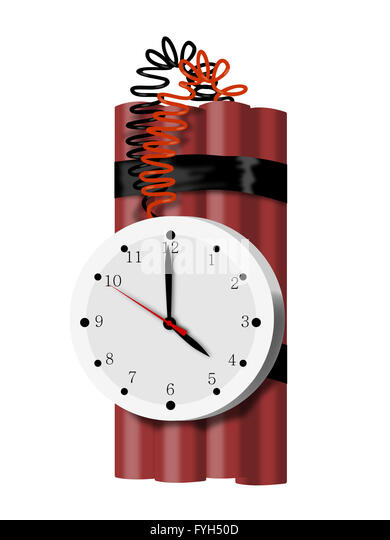 Time Bomb TNT Dynamite - Stock Image