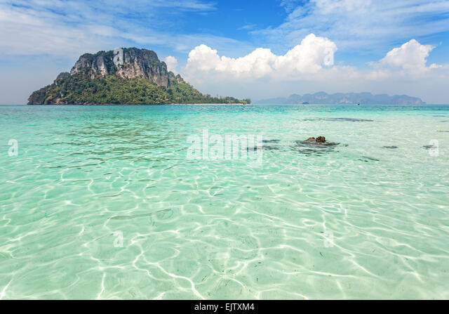 Tropical island located in Krabi province, Thailand. - Stock Image