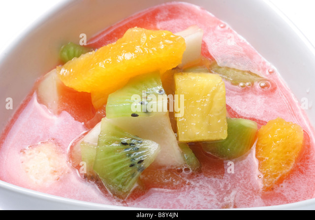 fruit soup - Stock Image