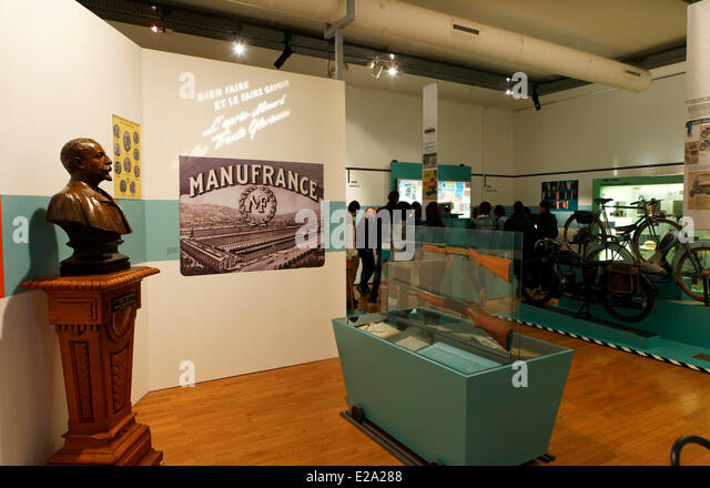 France, Loire, Saint Etienne, the museum of Art and Industry exhibition Manufrance - Stock Image