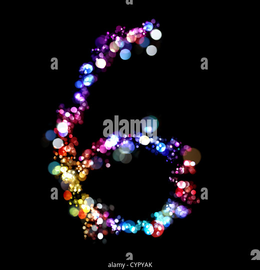 Lights in the shape of numbers  - Stock Image