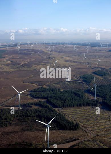 Whitelee Windfarm, south of Glasgow on Eaglesham Moor, Central Scotland - Stock Image