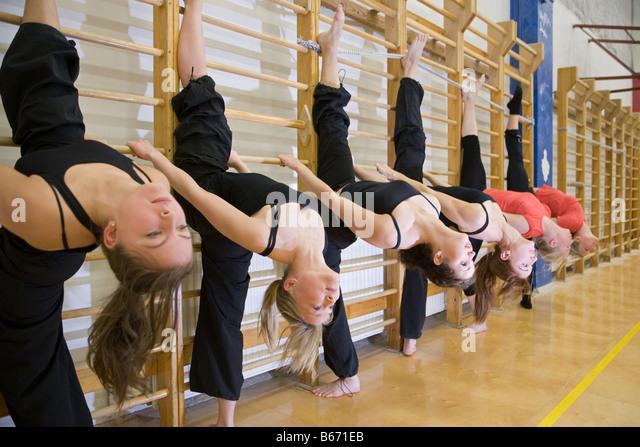 Gymnasts - Stock Image