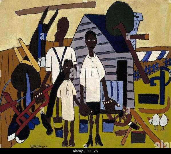 William H. Johnson  Early Morning Work - Stock Image
