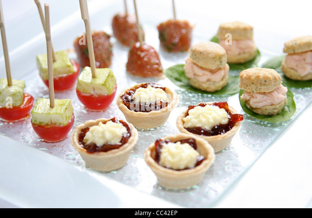 Canapes stock photos canapes stock images alamy for Canape platters